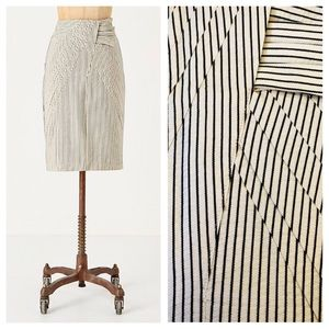 Anthropologie First Light Striped Pencil Skirt S2